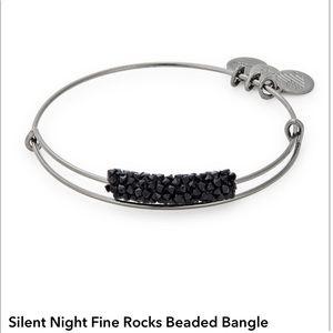 Alex and Ani Midnight Silver Rocks Bangle 🖤🖤🖤